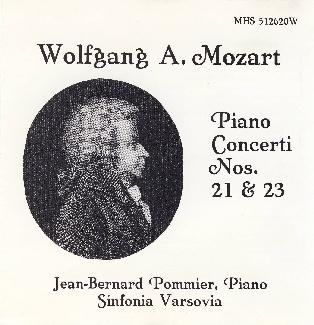 Wolfgang A. Mozart Piano Concerti Nos.21 & 23