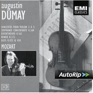 MOZART Symphonique Concertante K364 – Rondo K269 – Rondo K373- Duo K423