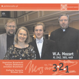 W.A. Mozart Koncerty na 1, 2 i 3 fortepiany