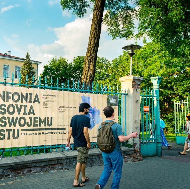 Announcement Concerning the Organization of Concerts at the 20th Sinfonia Varsova To Its City Festival
